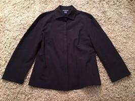Ann Taylor Stretch Black LS Button Down Shirt, Size 2 - $23.99