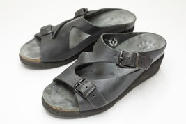 Mephisto 6 Dark Gray / Black Sandals Women's EU 36 - $68.00