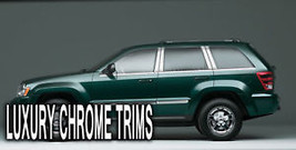 Jeep Grand Cherokee Stainless Chrome Pillar Posts by Luxury Trims 2005-2... - $76.38
