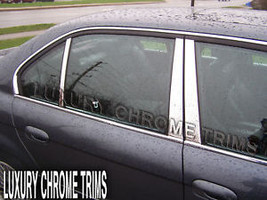 BMW 7 Series E38 Stainless Chrome Pillar Posts by Luxury Trims 1995-2001 (6pcs) - $69.80