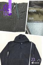 OYCZNPMM20 Oakley Navy Pigment Converge Front Zip Slim Fit Hoodie Men M Size - $69.99