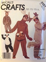 McCall's Crafts 3351 Costumes Adult M Panda / Koala Bear, Kangaroo, Rein... - $24.00
