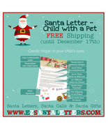 Santa Letter - Letter From Santa for a Child with Pets - $8.99
