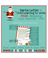 Santa Letter - Letter From Santa for a Child Learning to Write - $8.99