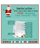 Santa Letter - Letter From Santa For a Child with a New Baby in Home - $8.99