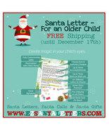Santa Letter - Letter From Santa For an Older Child - $8.99