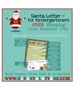 Santa Letter - Letter From Santa For Kindergarteners - $8.99