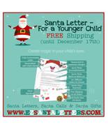 Santa Letter - Letter From Santa For a Younger Child - Letter from Santa - $8.99