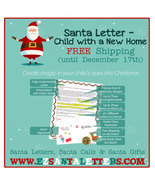 Santa Letter - Child with a New Home - Letter from Santa - $8.99