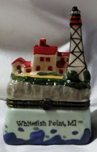 Whitefish Point, MI Lighthouse Hinged Collectible Box by Lighthouse Coll... - $12.99