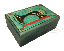 SEWING BOX Polish Handmade Wood Art Keepsake Unique Masterpiece Great Gi... - $29.69