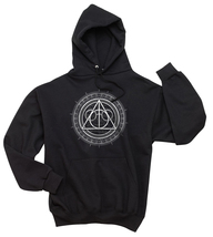 Deathly Hallows art Unisex Hoodie S - 3XL BLACK - $31.00+