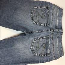 Women's Silver Suki Brand Denim Jeans Light Wash Boot Cut 27/34 - $16.68