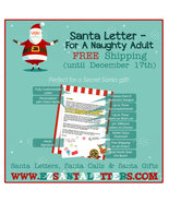 Santa Letter - For A Naughty Adult - Letter from Santa - $8.99