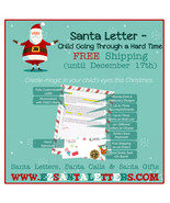 Santa Letter - Child Going Through a Hard Time - Letter from Santa - $8.99