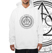 Deathly Hallows art Unisex Hoodie S - 3XL WHITE - $31.00