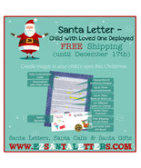Santa Letter - Child with Loved One Deployed - Letter from Santa - $8.99