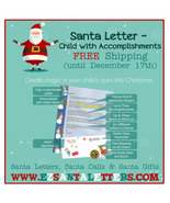 Santa Letter - Child with Accomplishments - Letter from Santa - $8.99