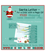Santa Letter - For a Child With a Magic Elf - Letter from Santa - $8.99