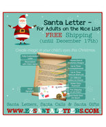 Santa Letter - For Adults on the Nice List - Letter from Santa - $8.99