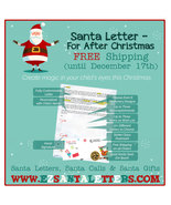 Santa Letter - For After Christmas - Letter from Santa - $8.99