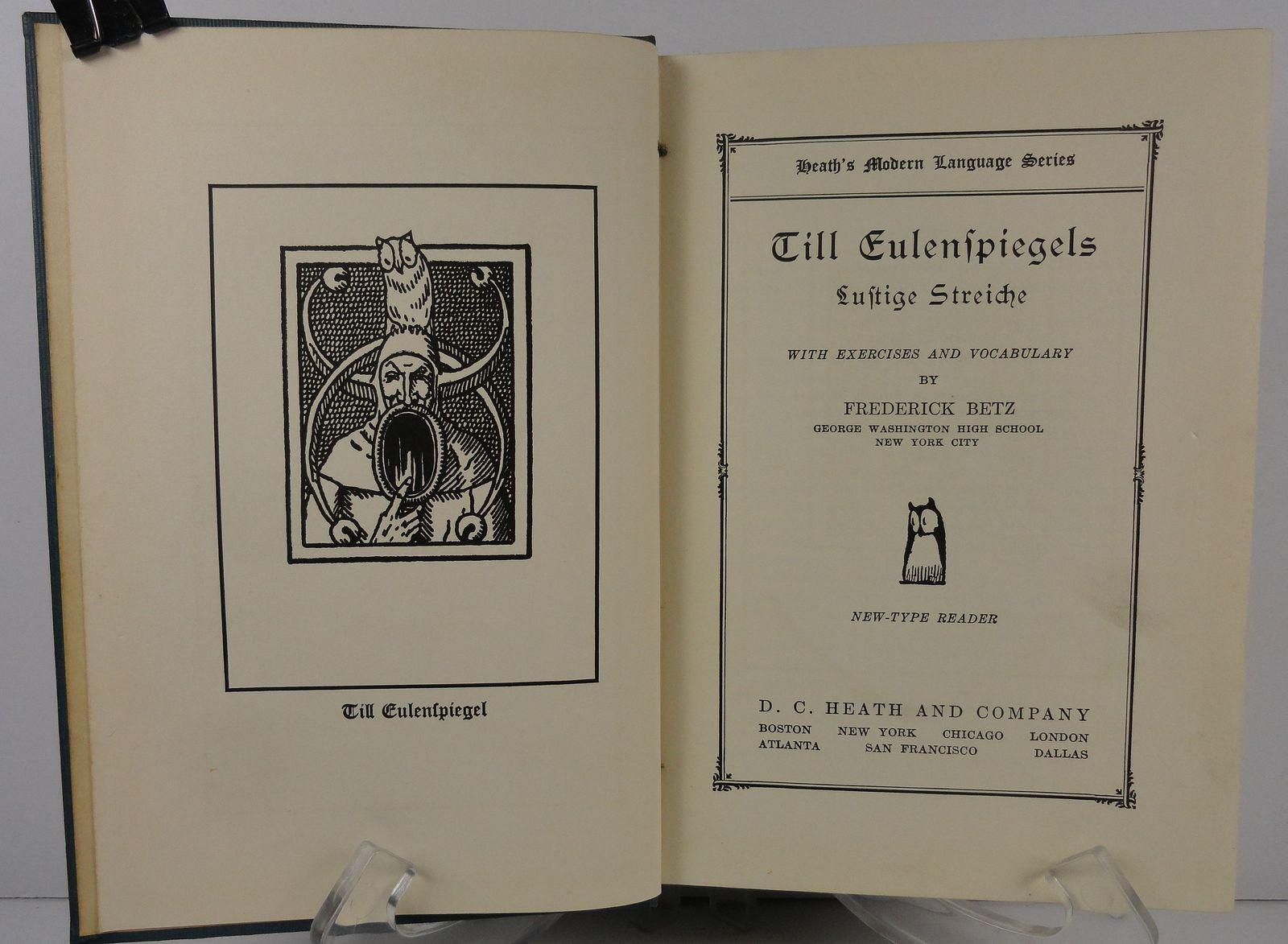 Till Eulenspiegel Lustige Streiche by Frederick Betz 1933