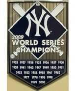 New York Yankees World Series Championship Home Plate Tin Sign - $18.50
