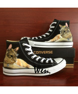 Pet Cat Original Design Sneaker Men Women's Converse All Star Hand Painted Shoes - $129.00