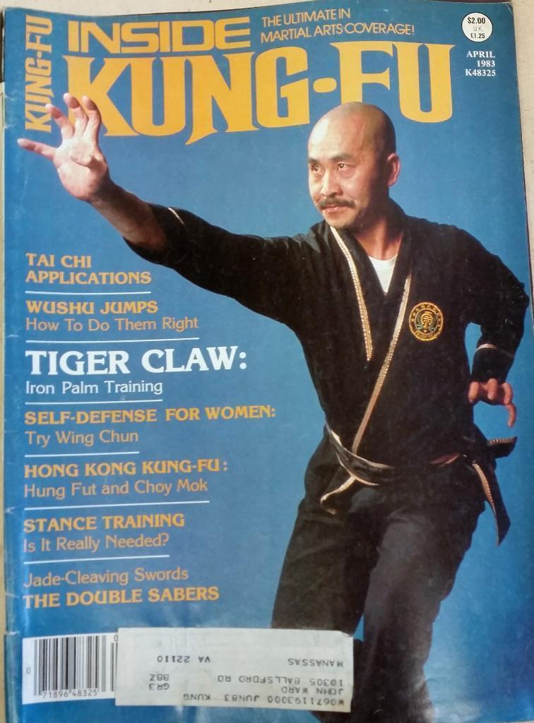 Details about  April 1983 Inside Kung-Fu Magazine Tiger Claw Stance Training Wu