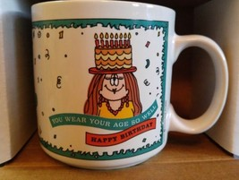 Cathy Coffee Mug Happy Birthday You Wear Your Age So Well  Cathy Guisewi... - $12.19