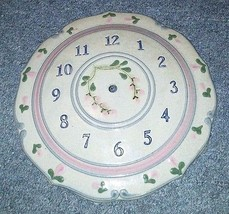 1992 Mountaine Meadows Pottery Floral Clock Face - $12.19
