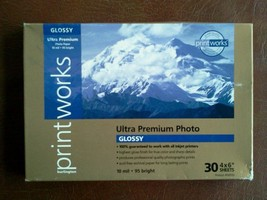 30 Burlington Printworks Ultra Glossy Premium 4X6 Photo Paper Sheets! 10 mil - $13.81