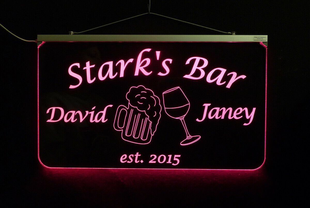 Personalized LED Man Cave Bar Sign- Garage Sign, Gift for Dad -Beer mugs image 7
