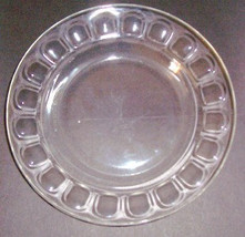 Arcoroc Clear Glass Thumbprint Edge Large Bowl/Dinner Plate - Made In France - $11.99
