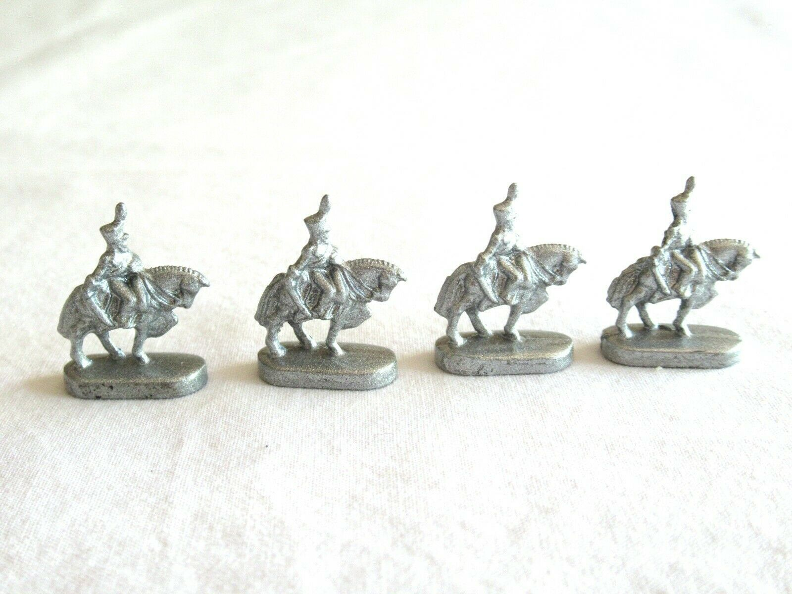 Primary image for 4x Risk 40th Anniversary Edition Board Game Metal Cavalry Soldier Silver Army
