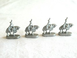 4x Risk 40th Anniversary Edition Board Game Metal Cavalry Soldier Silver Army - $10.99