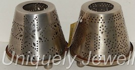 Jim Shore Distressed Metal 3 PC Votive Candle Holders Punched Tin Look (2) - $29.36