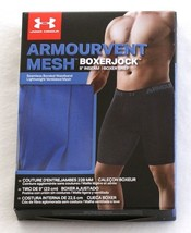 "Under Armour Blue ArmourVent Mesh 6"" Boxerjock Boxer Brief Underwear Men's NWT - $29.99"