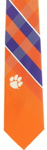Clemson Tigers Mens College Necktie University Logo Eagles Wings Orange ... - $32.95