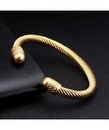 Luxury Braided Charm Open Cuff Men Women Spory Bangles Silver Jewelry Classic Sm - $12.79