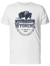 Equality State Wyoming 1890 Men's Tee -Image by Shutterstock - $311,55 MXN+