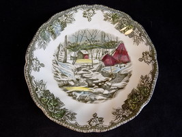 Vintage Johnson Brothers Plate Friendly Village The Ice House Porcelain Saucer - $8.90