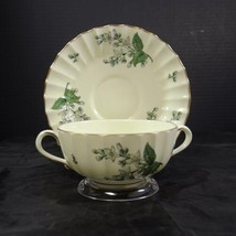 Royal Worcester Cream Soup and Underplate  - Valencia Pattern - $2.14