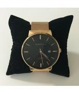 CRRJU Men Watch Date Display Mesh Strap Thin Dial Quartz Wristwatch New ... - $9.89