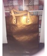 Auth LOUIS VUITTON Reade MM Bronze Monogram Vernis Handbag - $225.00