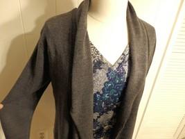 L XL 12 14 16 Women Cardig Jacket Sweater Coat Solid Knit Winte Drape Gr... - $34.15