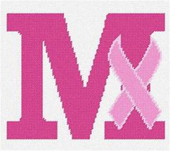 Letter M Hope Ribbon Needlepoint Kit - $85.00
