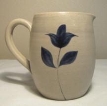 "Williamsburg Pottery Mini Pitcher / Creamer Cobalt Flower 3.5"" Excellent... - $11.36"