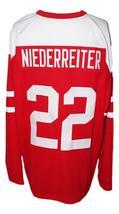 Custom Name # Team Switzerland Retro Hockey Jersey Red Any Size image 2