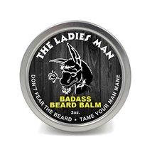 Badass Beard Care Beard Balm - The Ladies Man Scent, 2 Ounce - All Natural Ingre image 2